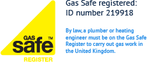 Gas Safe registered: ID number 219918